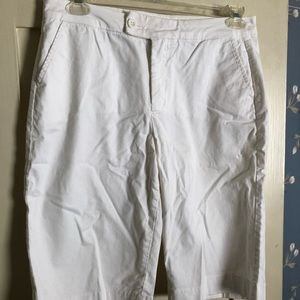 NYDJ Chino white shorts